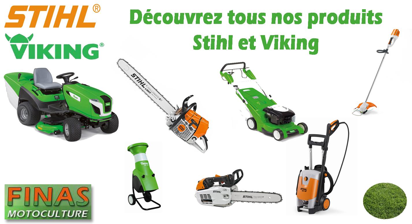 Nos produits Stihl Viking finas motoculture