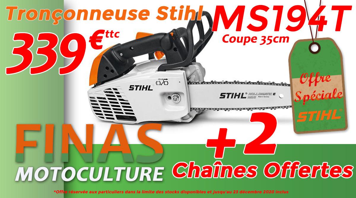 Finas Motoculture stihl ms194T promo